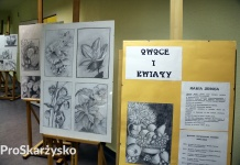 Maria Zbroja - wystawa Owoce i kwiaty