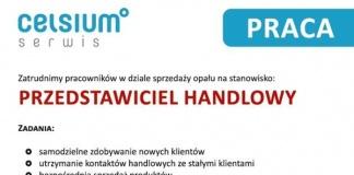 Celsium serwis - praca - przedstawiciel handlowy