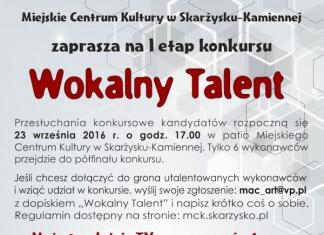 Konkurs Wokalny Talent - MCK