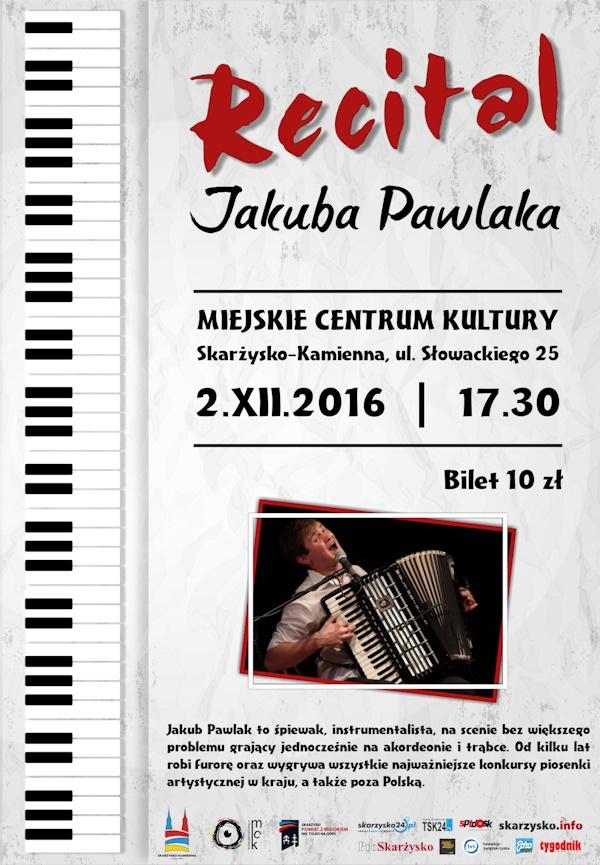 Jakub Pawlak - recital - Miejskie Centrum Kultury