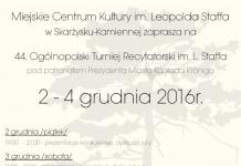 44. Ogólnopolski Turniej Recytatorski im. Leopolda Staffa