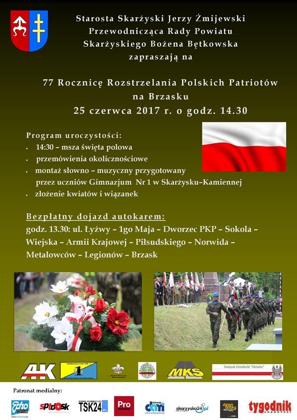 Brzask Skarżysko - rocznica egzekucji polskich patriotów