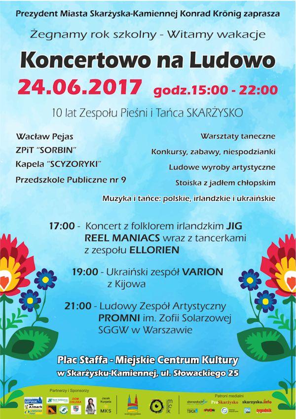 Koncertowo na Ludowo - Plac Staffa - Miejskie Centrum Kultury