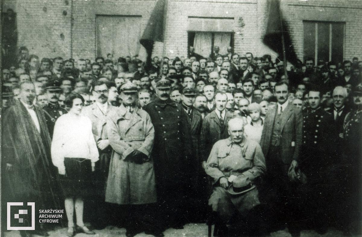 Prezydent Ignacy Mościcki w Państwowej Fabryce Amunicji w Skarżysku w okresie dwudziestolecia międzywojennego