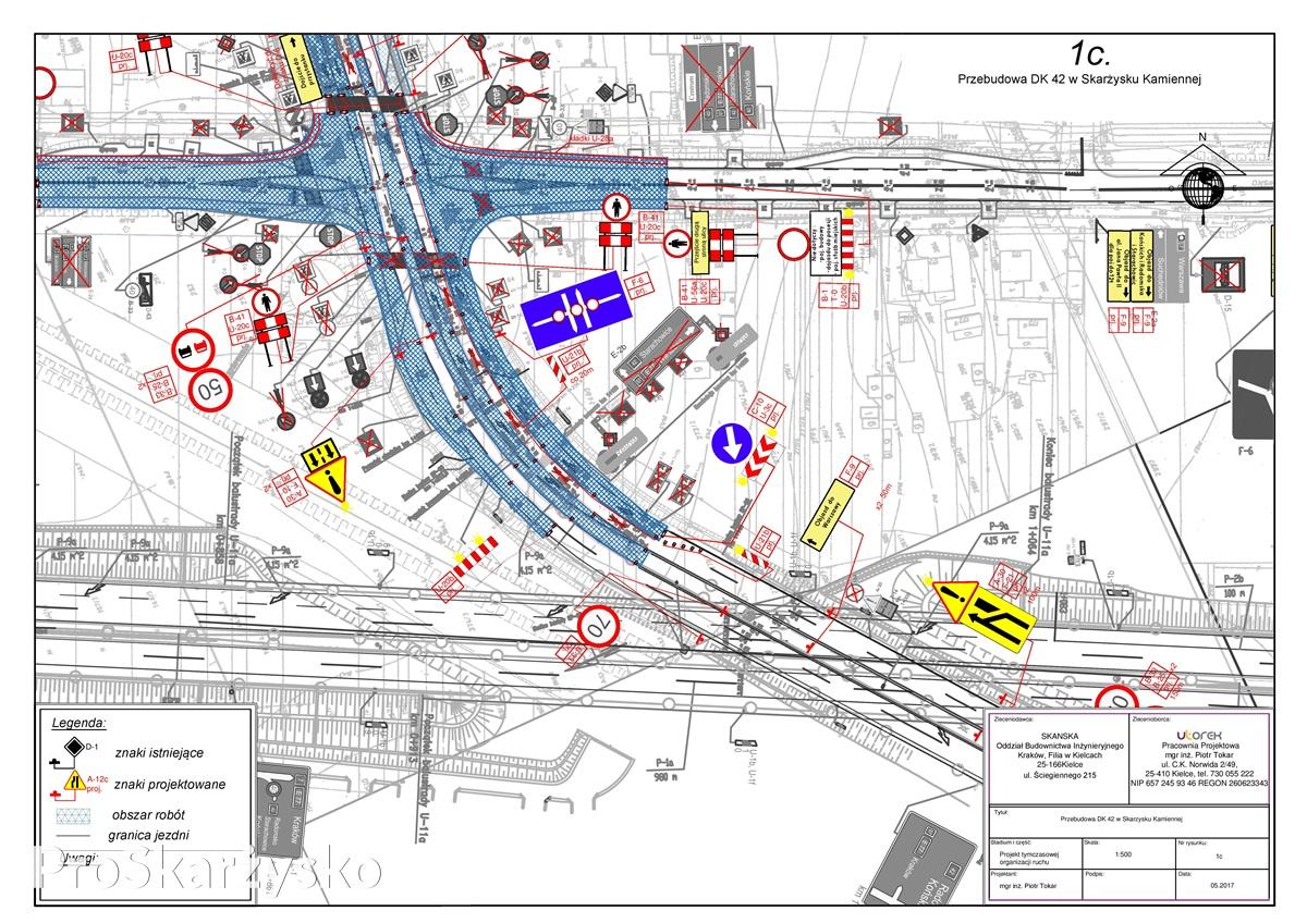 Reorganizacja ruchu na skrzyżowaniu Jana Pawła II (DK 42) i Krakowskiej - budowa ronda
