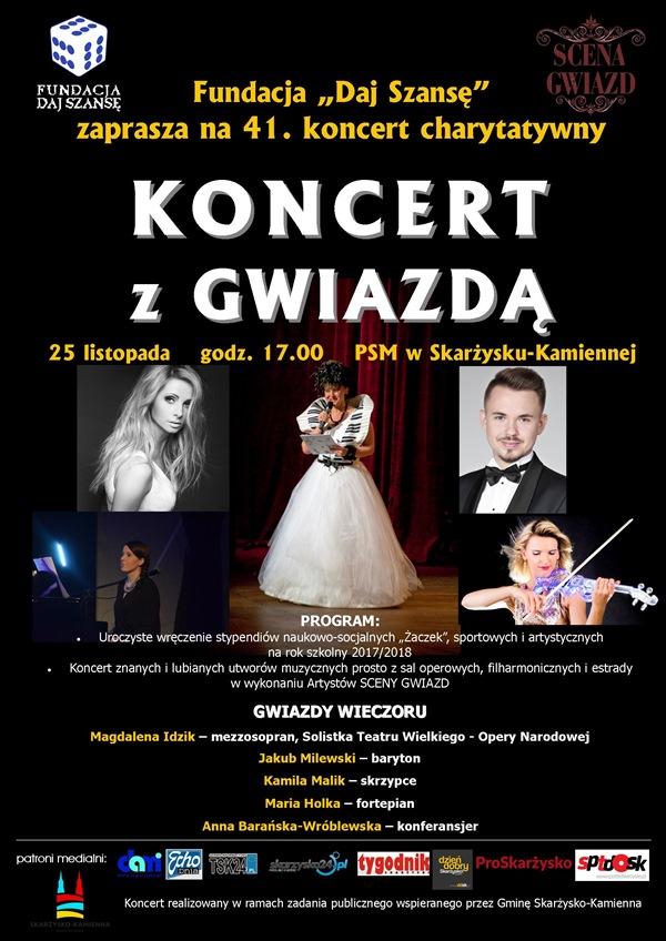 Koncert Charytatywny z Gwiazdą Fundacji Daj Szansę - wystapi Magdalena Idzik