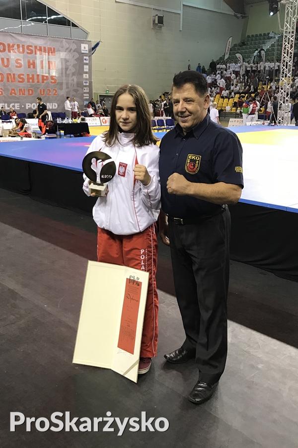 Oliwia Fornal SKSW Skarzysko - Mistrzostawa Europy w Karate U-16 Kielce 2017