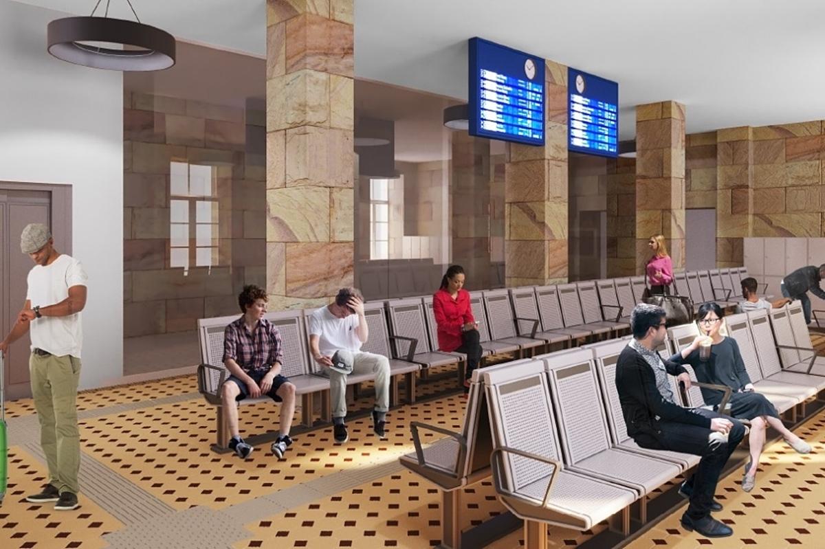 dworzec pkp skarzysko wizualizacja