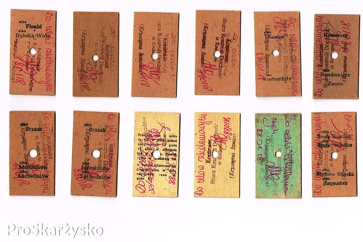 kolejowe bilety kartonikowe