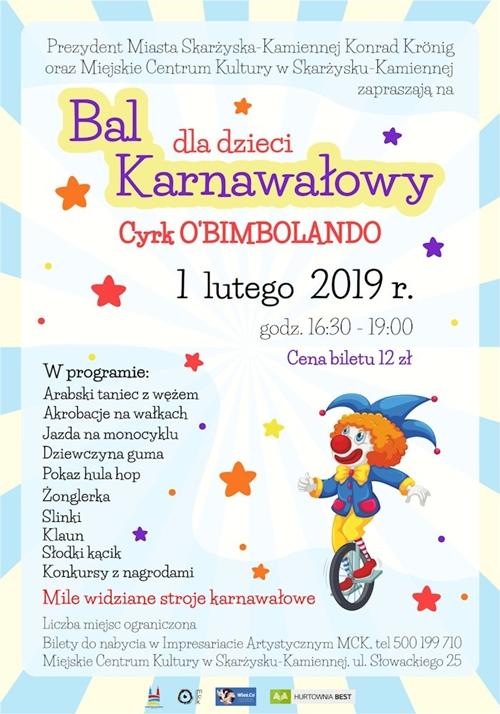 bal kanawalowy dla dzieci mck skarzysko 2019