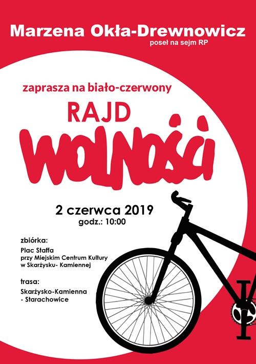 bialo czerwony rajd rowerowy marzena okla drewnowicz