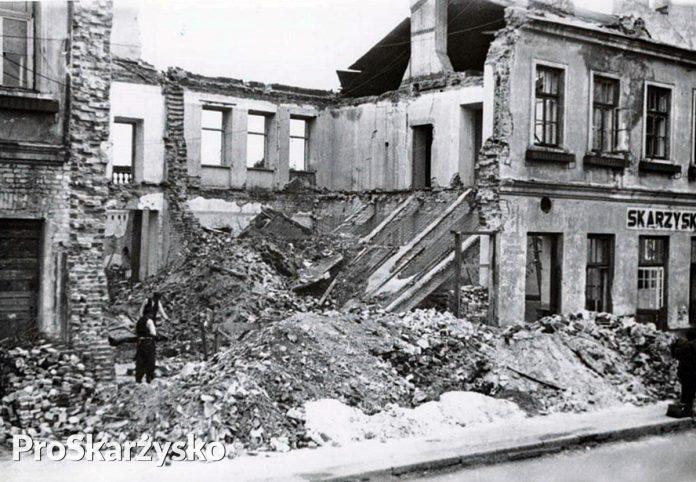 zbombardowany dworzec kolejowy skarzysko
