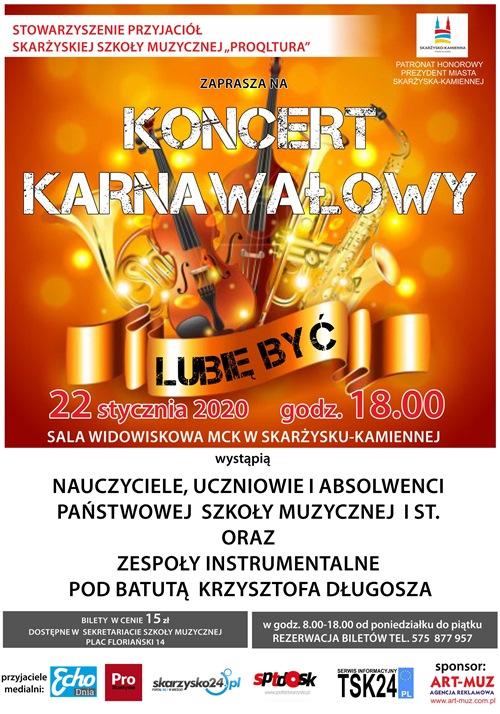 koncert karnawalowy 2020 szkola muzyczna skarzysko