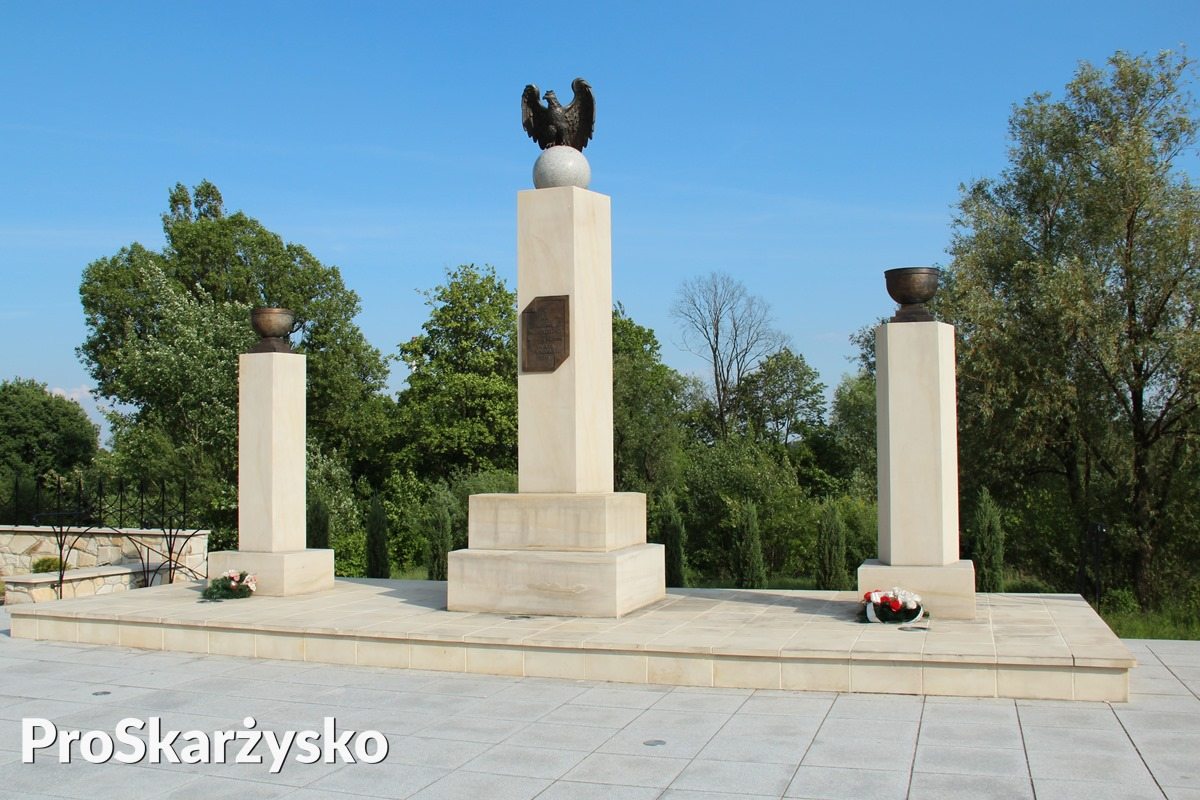 pomnik niepodległości skwer kolejarzy skarżysko
