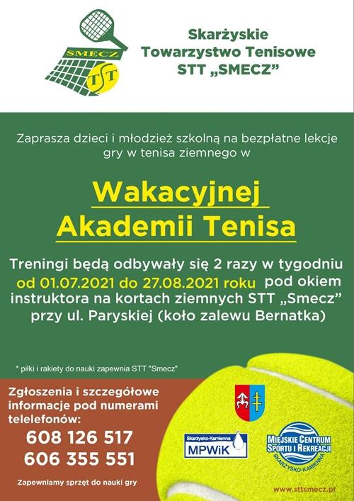 wakacyjna akademia tenisa skarzysko 2021